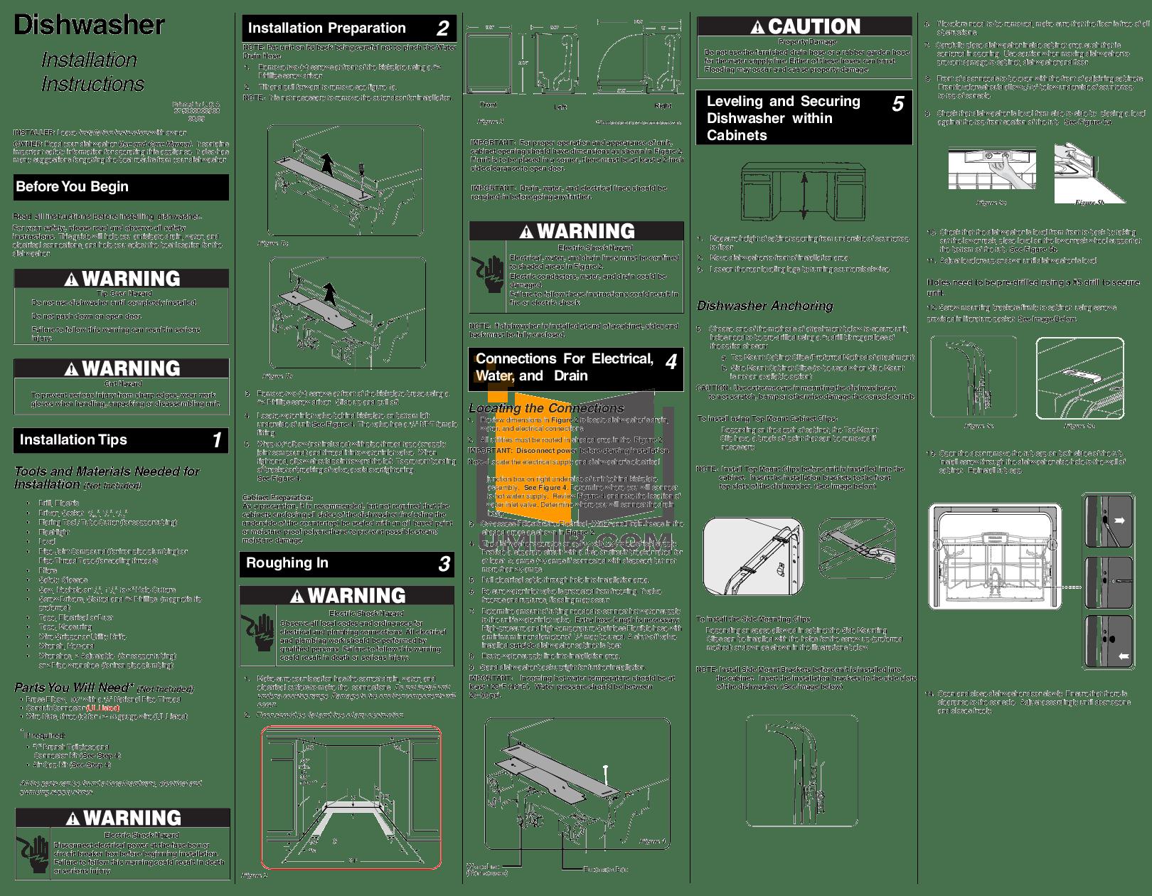 hight resolution of pdf for frigidaire dishwasher fphd2491kf manual