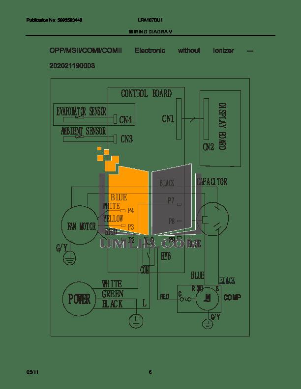 PDF manual for Frigidaire Air Conditioner LRA107BU1