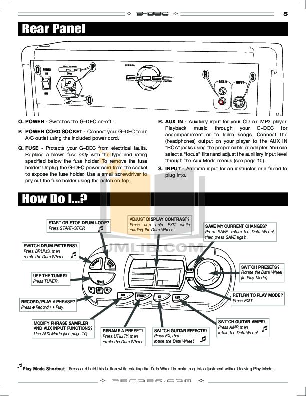 PDF manual for Fender Amp G-DEC30