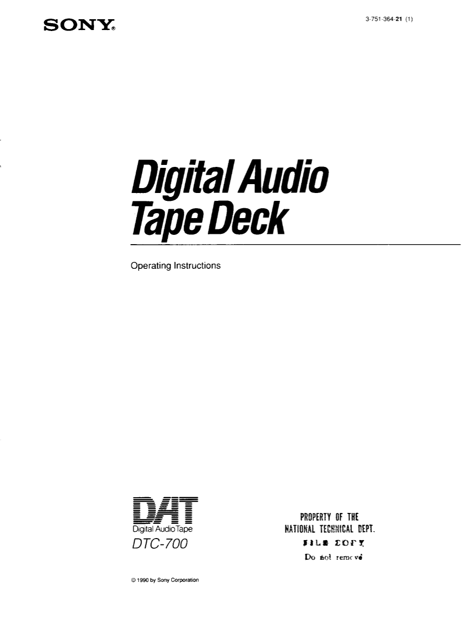 Download free pdf for Sony CDP-990 CD Player manual