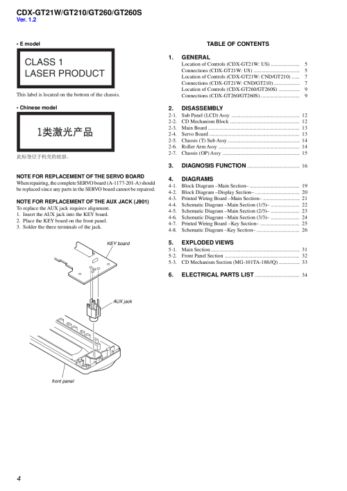 small resolution of  sony cd player cdp c305 pdf page preview