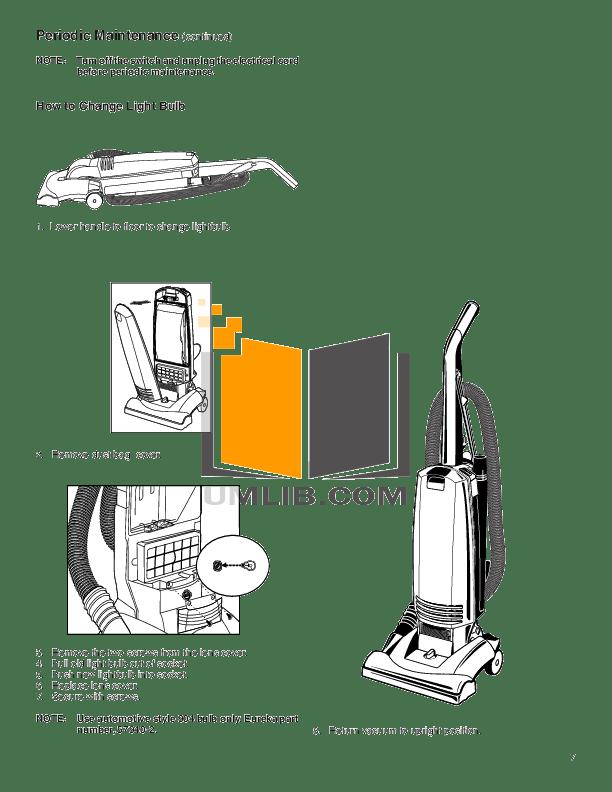 PDF manual for Eureka Vacuum Maxima 4700D