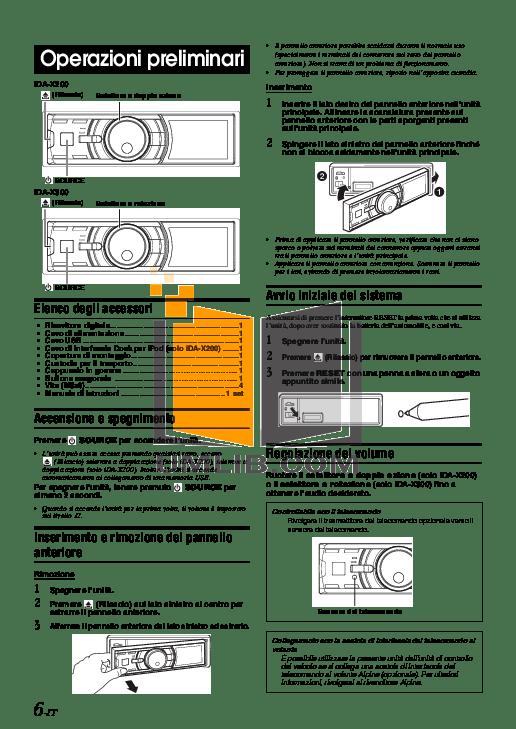 PDF manual for Alpine Car Receiver IDA-X200