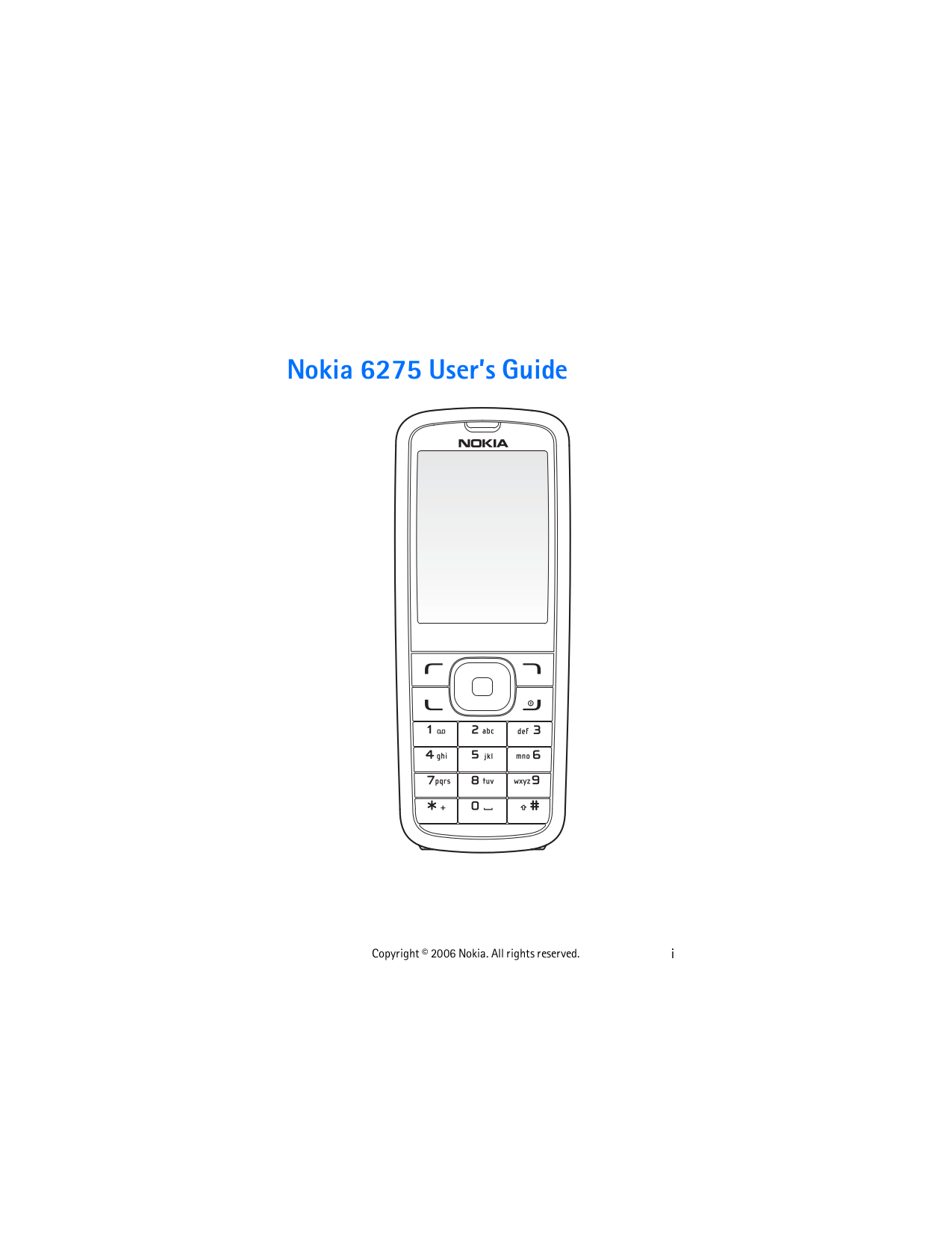 Download free pdf for Nokia 6275 Cell Phone manual