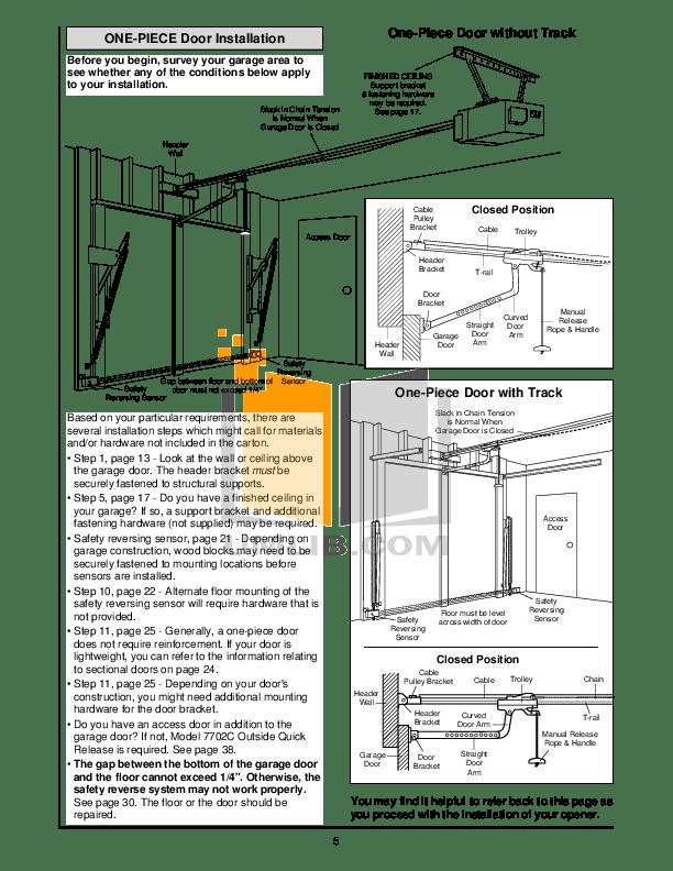 PDF manual for Chamberlain Other 3500 Garage Door Openers