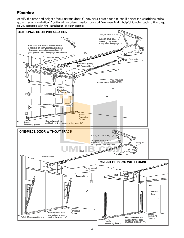 PDF manual for Chamberlain Other 3500 Garage Door Openers