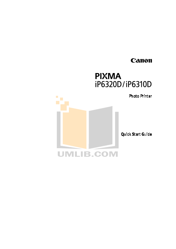 CANON PIXMA IP6310D MANUAL PDF