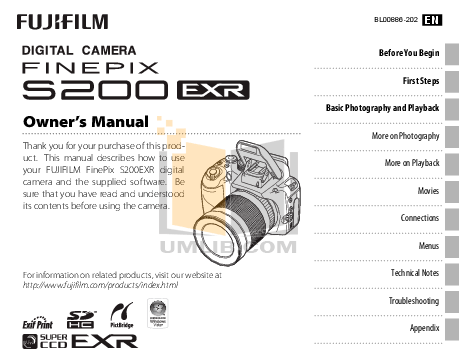Download free pdf for FujiFilm Finepix S20 Pro Digital
