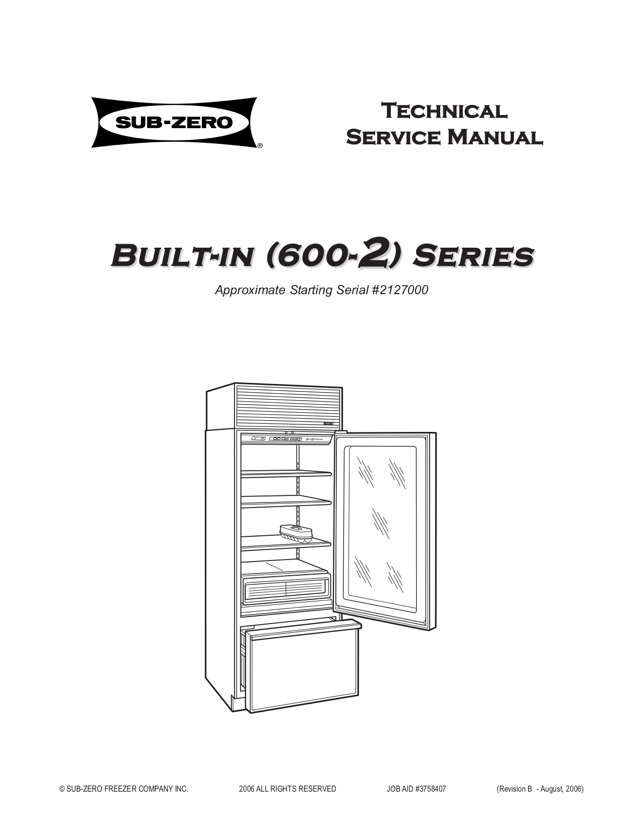 Download free pdf for Wolf Sub-Zero 601R Refrigerator manual