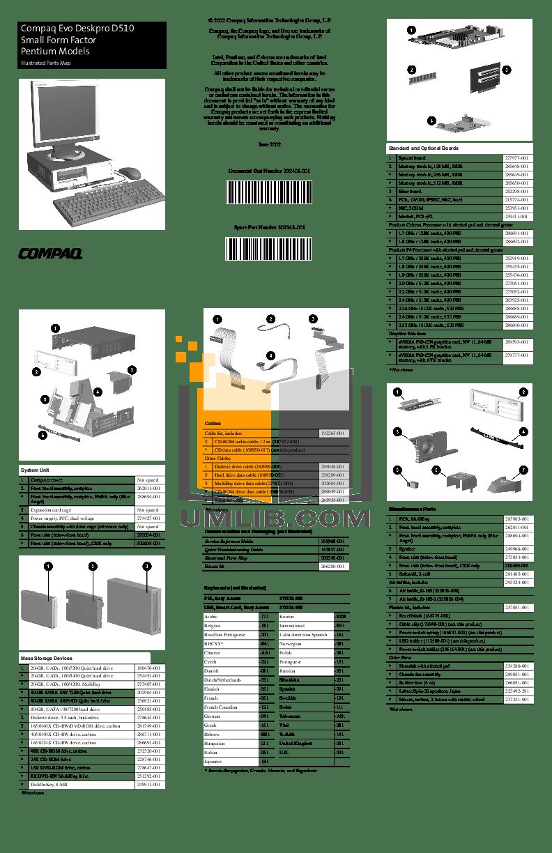 Download free pdf for HP Evo D510 SFF Desktop manual