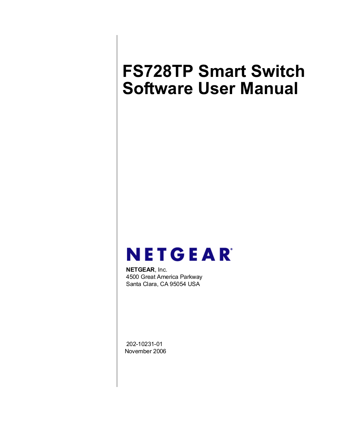 Download free pdf for Netgear ProSafe FS728TP Switch manual