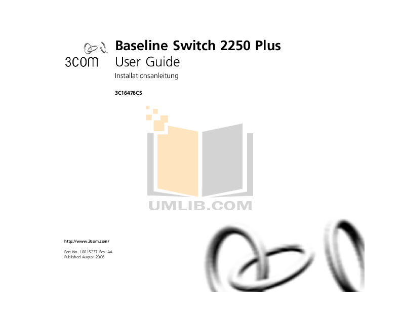 Download free pdf for 3Com Baseline 2250 Plus Switch manual