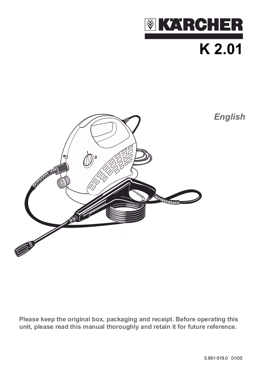 Download free pdf for Karcher K 2.01 Pressure Washers
