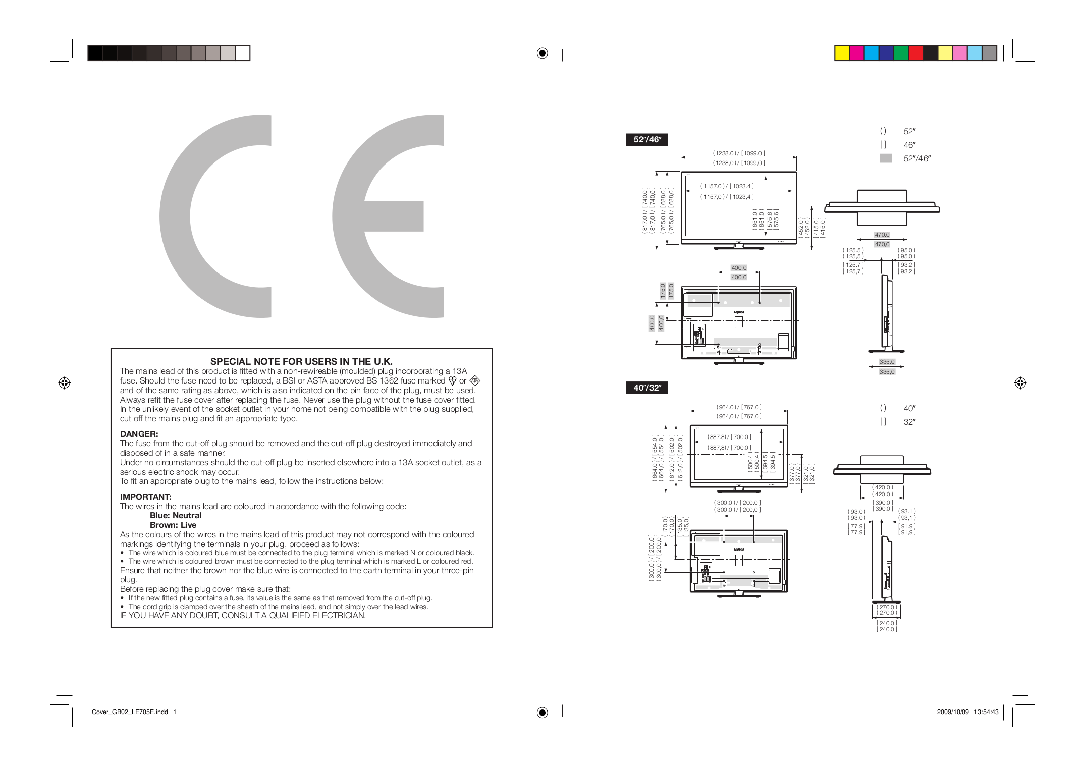 PDF manual for Sharp TV AQUOS LC-32D59U