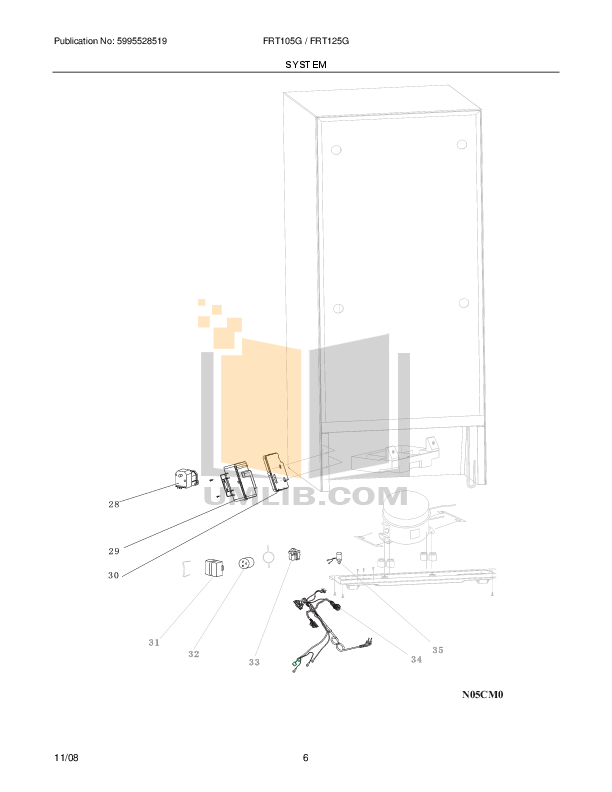 PDF manual for Frigidaire Refrigerator FRT105G