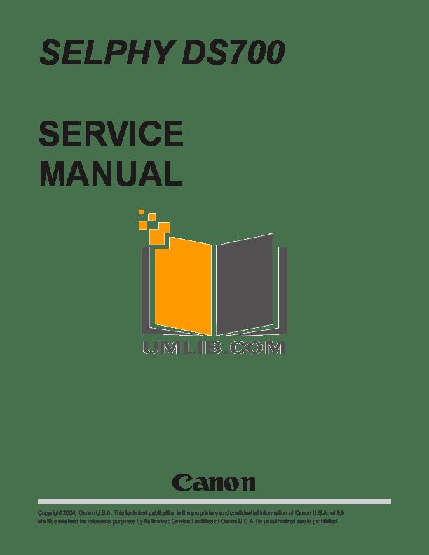 CANON DS700 MANUAL PDF