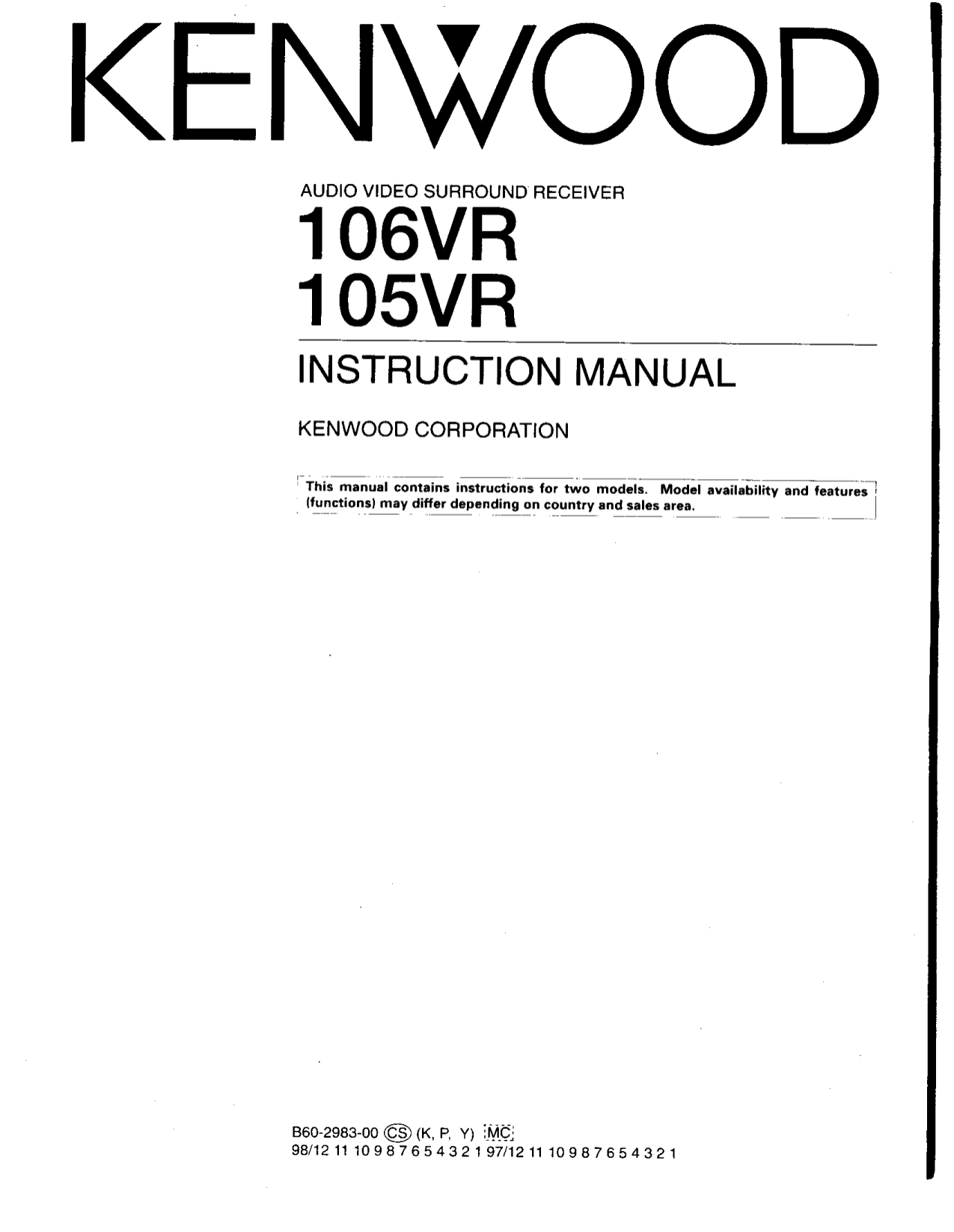 Download free pdf for Kenwood SS-79 Receiver manual