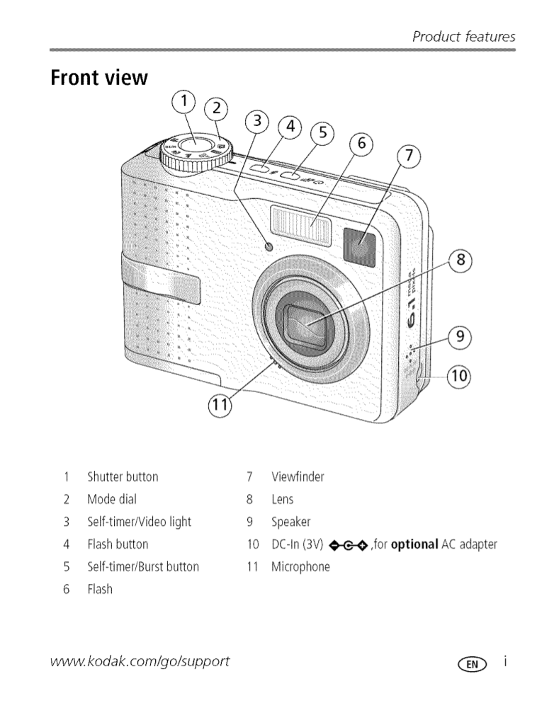 PDF manual for Kodak Digital Camera EasyShare C643