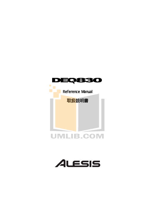 Download free pdf for Alesis DEQ830 Equilizers Other manual