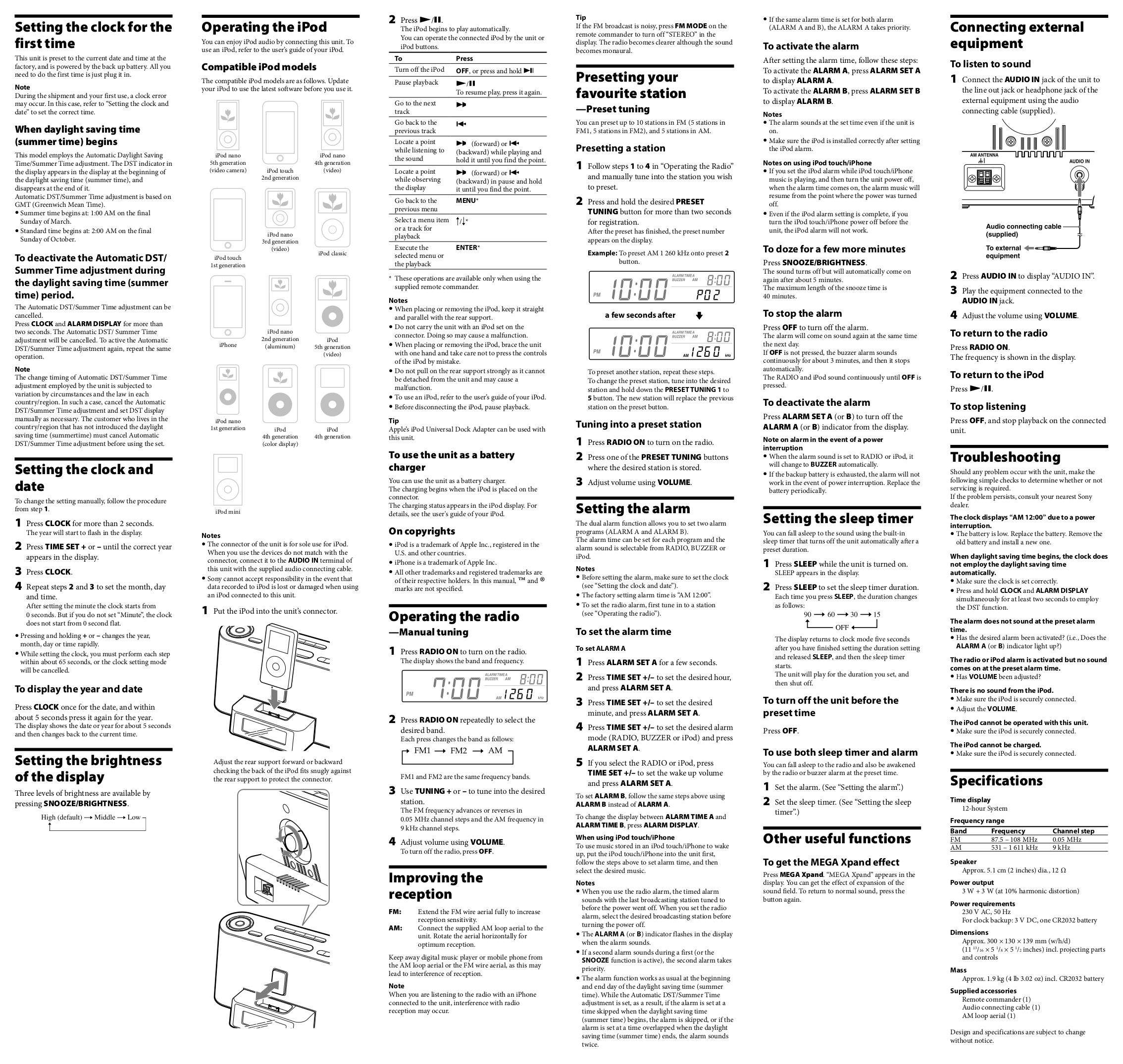 PDF manual for Sony Radio ICF-36