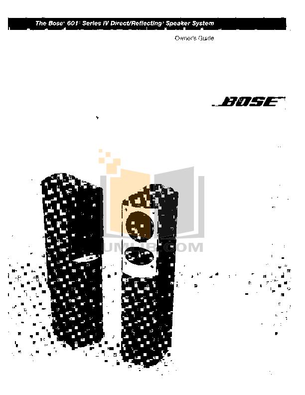 Download free pdf for Bose 701 Series II Speaker manual