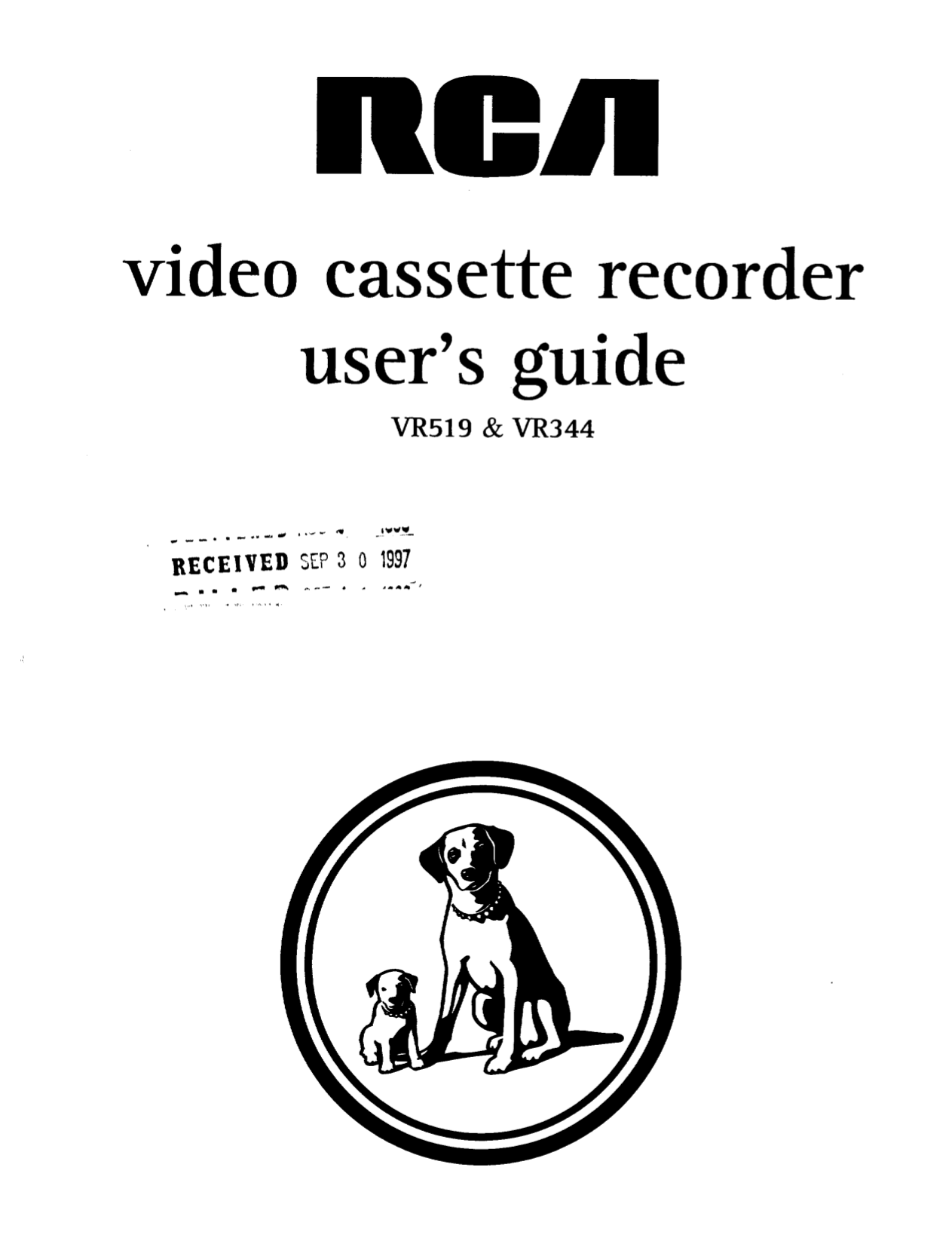 Download free pdf for RCA VR519 VCR manual