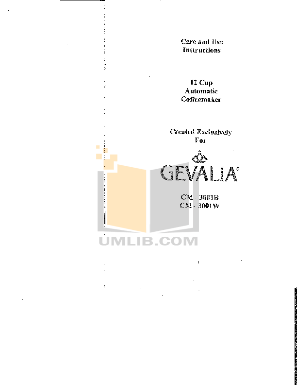 Download free pdf for Gevalia C-60A Coffee Maker manual