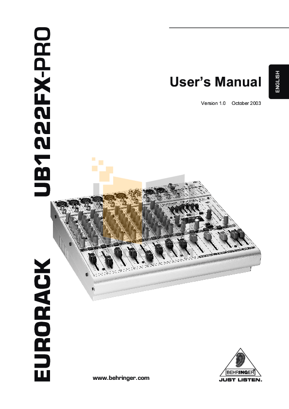 Download free pdf for Behringer Virtualizer Pro DSP2024P