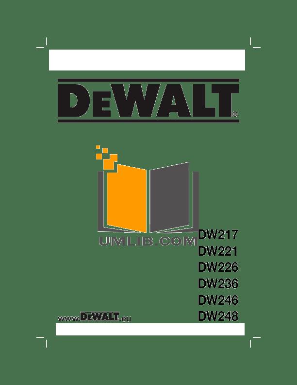 Download free pdf for Dewalt DW236 Drills Other manual
