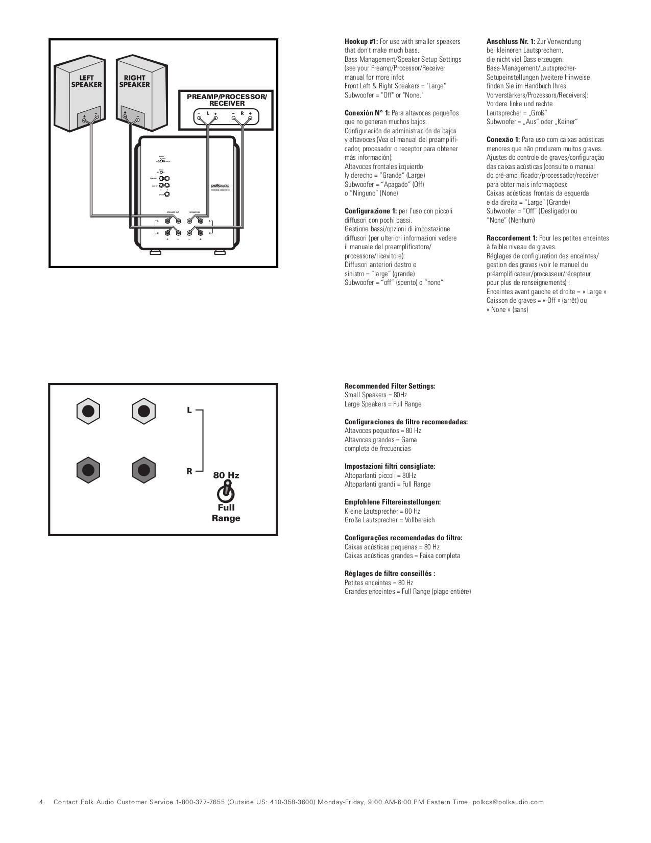 PDF manual for JBL Speaker PSW1000