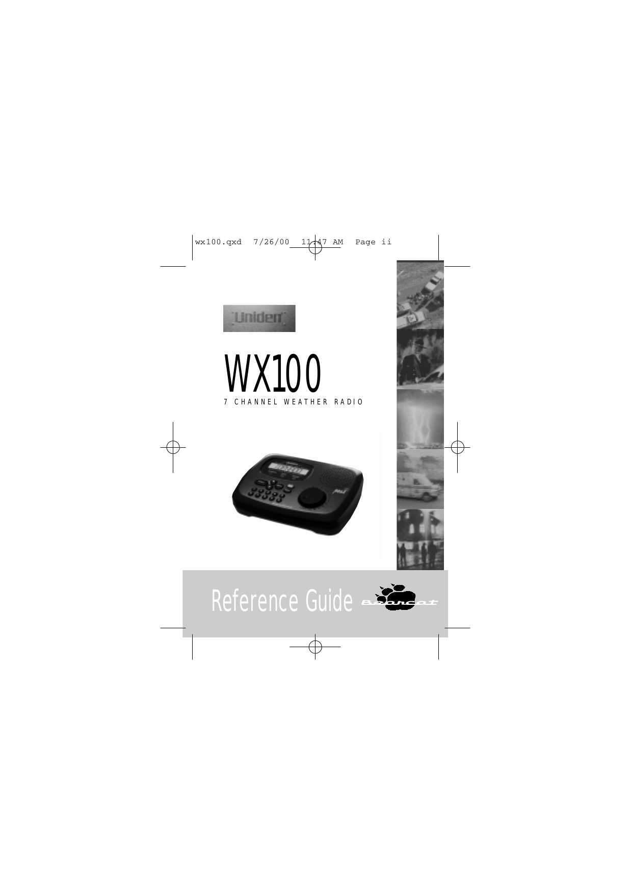 Download free pdf for Uniden WX100 Scanner manual