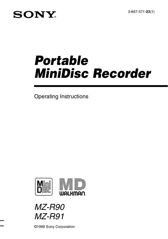 Download free pdf for Sony Walkman D-EJ01 CD Player manual