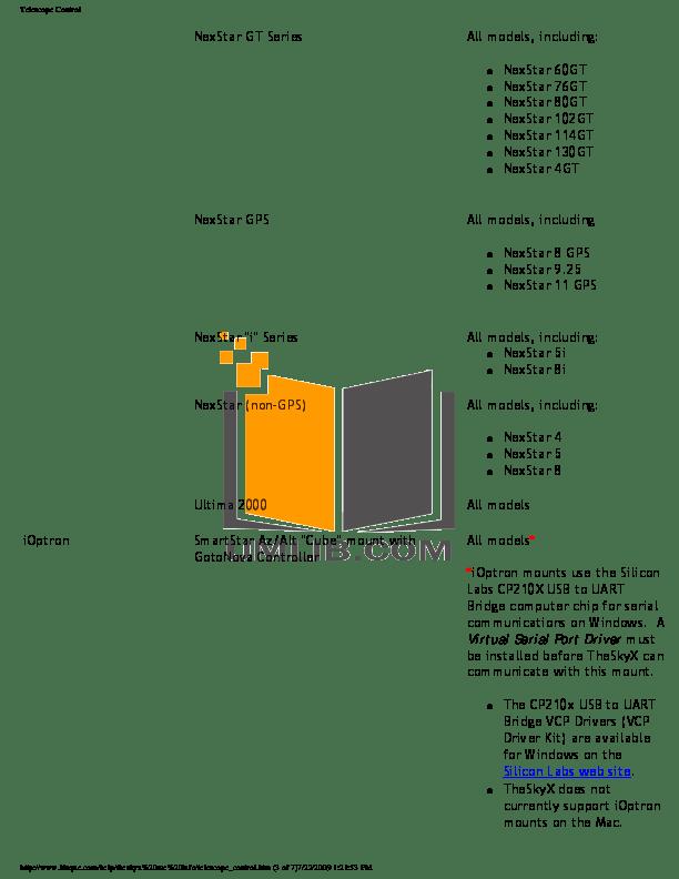 PDF manual for Celestron Telescope CGEM-800