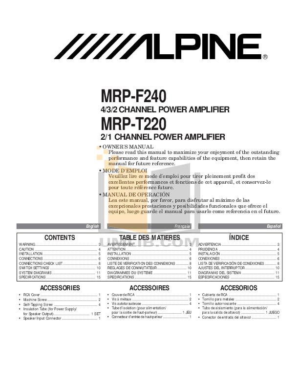 ALPINE MRP-F240 MANUAL PDF