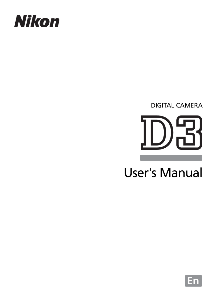 Download free pdf for Nikon D3 Digital Camera manual