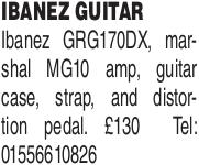 Download free pdf for Ibanez GRG170DX Guitar manual