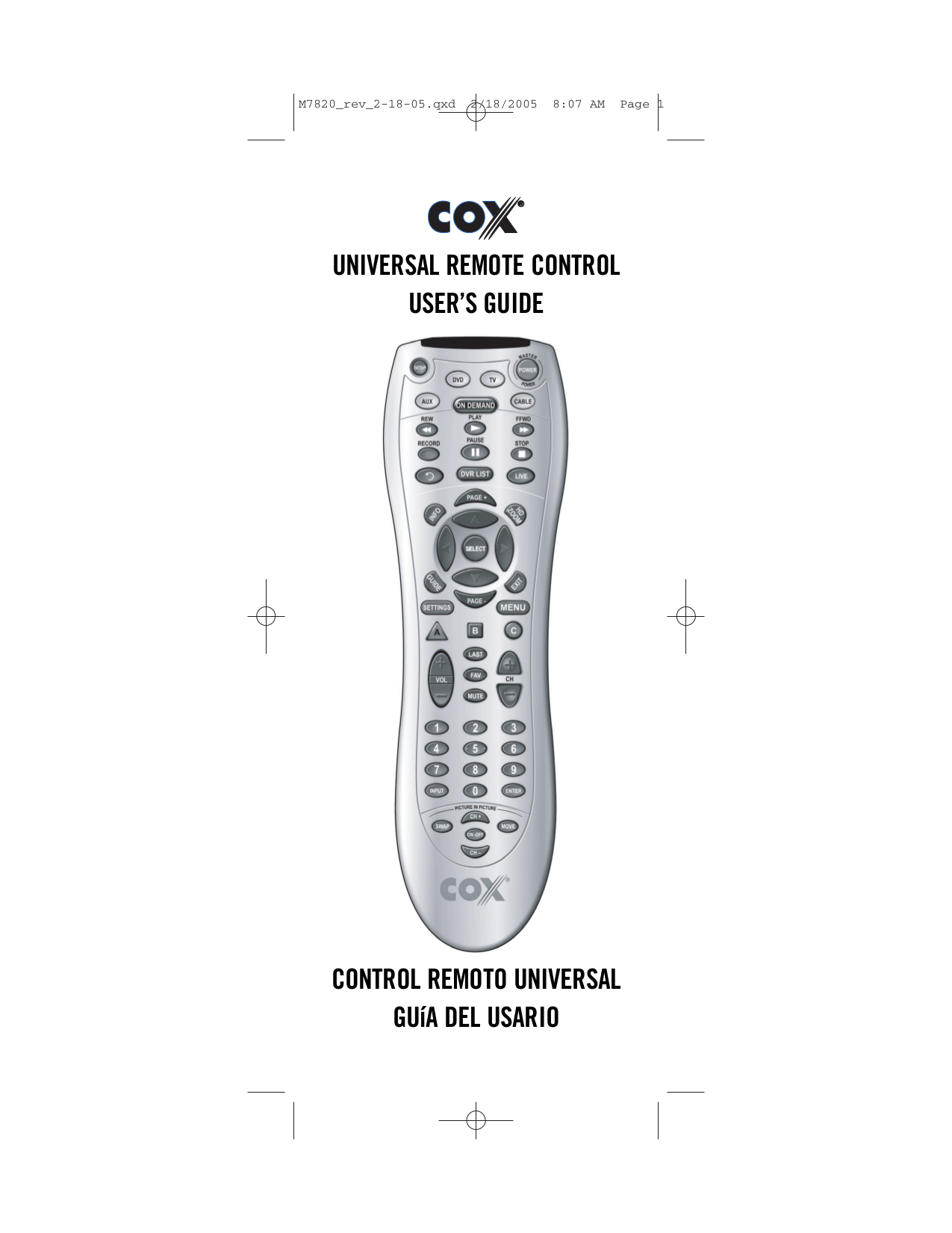 Cox Remote Control Programming. Fabulous Direct Code Entry
