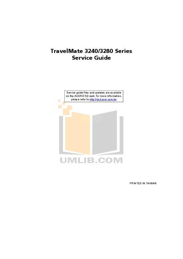 Download free pdf for Acer TravelMate 3240 Laptop manual
