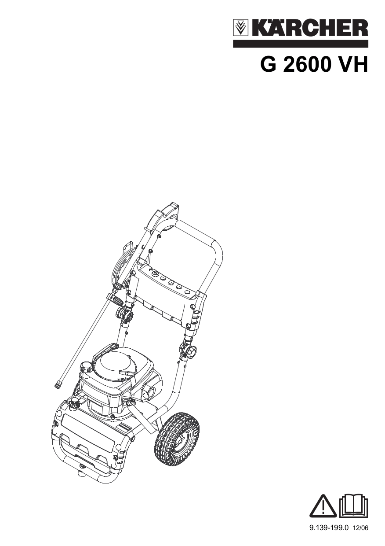 PDF manual for Karcher Other G 2600 VH Pressure Washers