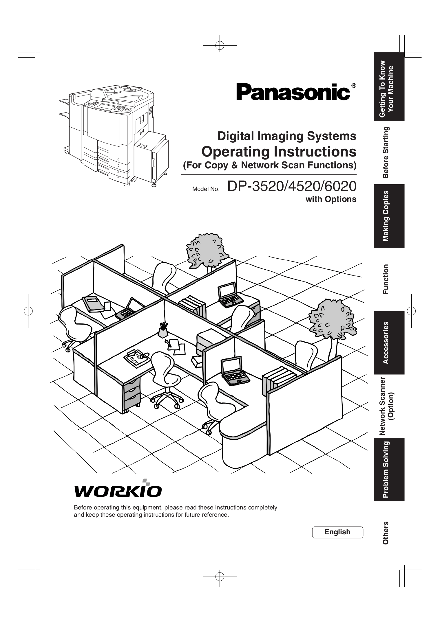 Download free pdf for Panasonic WORKIO DP-8035 Copier manual