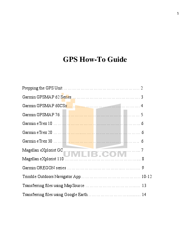 Download free pdf for Garmin GPSMAP 62S GPS manual