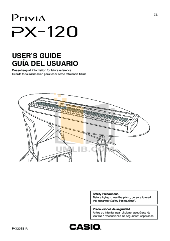 Download free pdf for Casio CS-65P piano stand Other manual