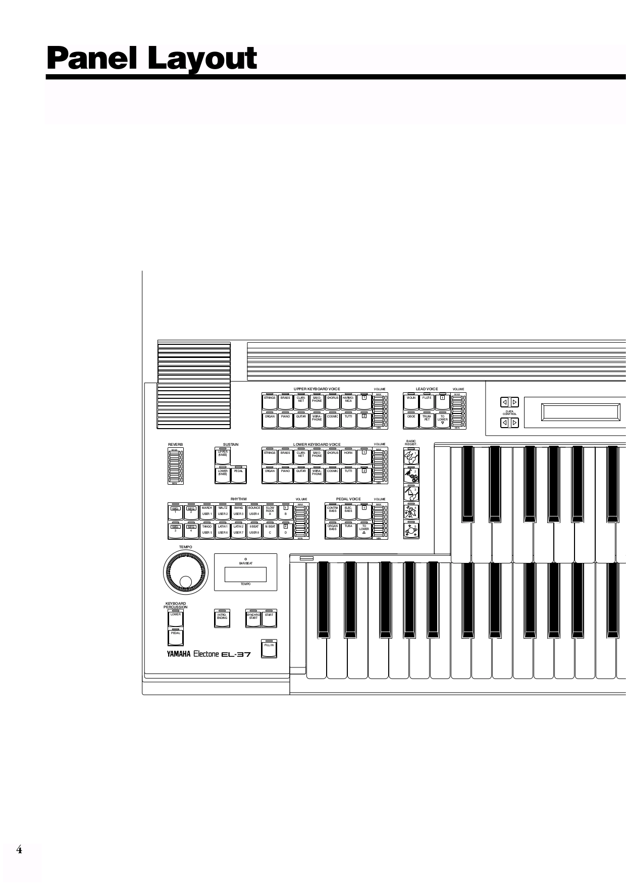 PDF manual for Yamaha Music Keyboard EL-3
