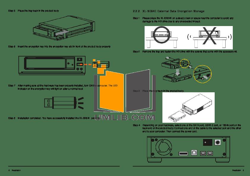 PDF manual for Hitachi Storage XL Desk 500GB