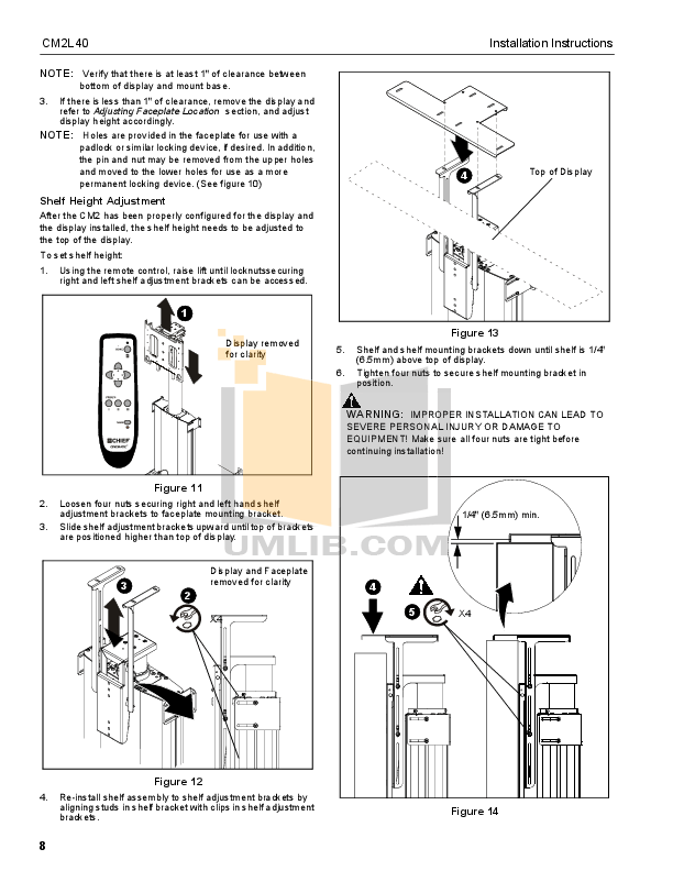 PDF manual for Chief Other CM2L40 Automated Mounts