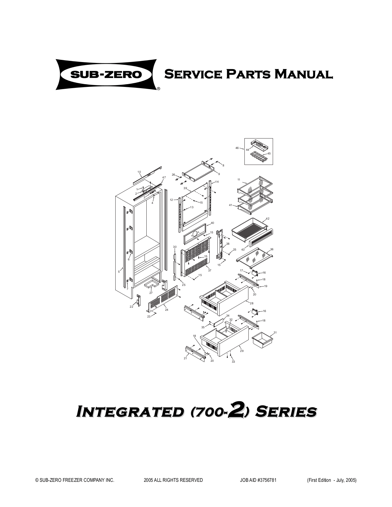 Download free pdf for Wolf Sub-Zero 700TF Refrigerator manual