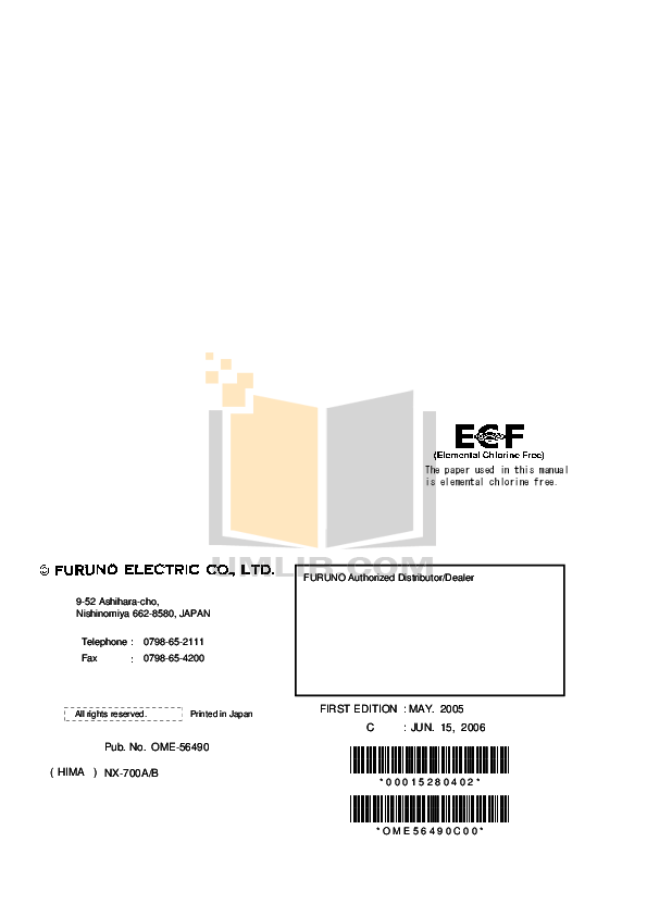 PDF manual for Furuno Other FAX-214 Fax Receiver
