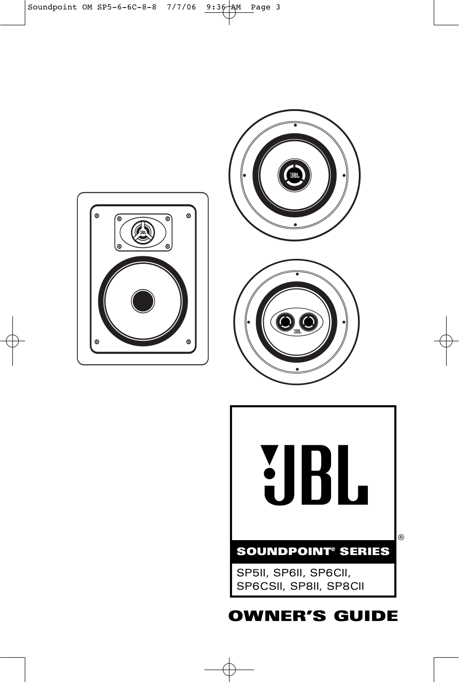 Download free pdf for JBL MEDIA 200 Speaker manual