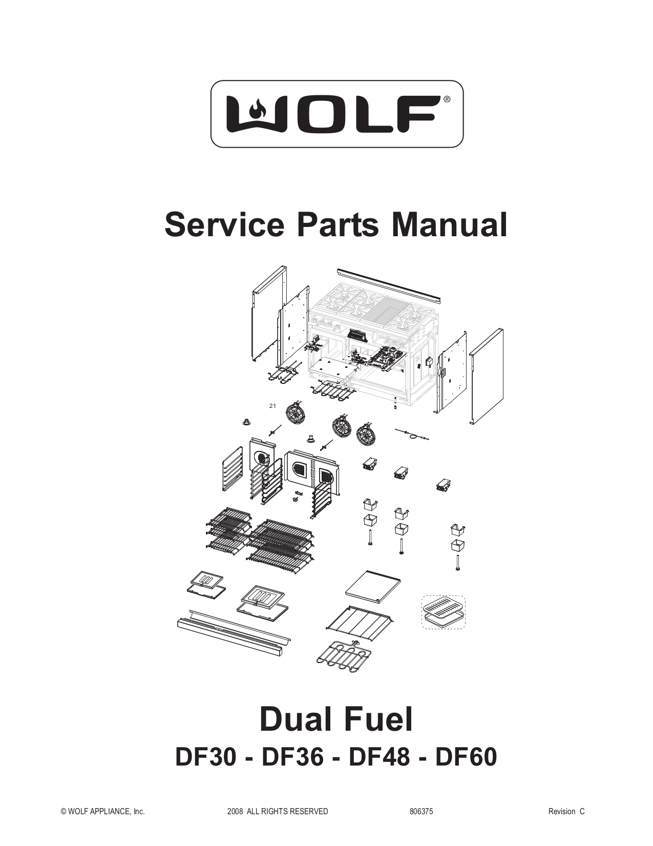 Download free pdf for Wolf DF484DG Range manual