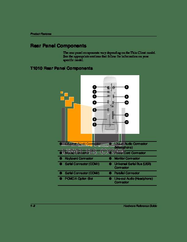PDF manual for HP Desktop Compaq t1010